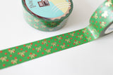 X'mas Polka Dot Bow Washi with Gold Foiling