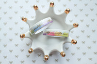 10mm Rainbow Bow Line with Gold Foiling