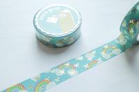 Rainbow Sky Bow Washi with Gold Foiling