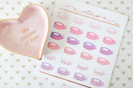Foiled Washi Roll Stickers (Valentine's version) - W017