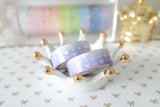 Amethyst Bling Bling Bow Washi with Holo Silver & Purple Foiling