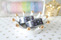 Blueberry Night Bling Bling Bow Washi with Holo Silver & Purple Foiling