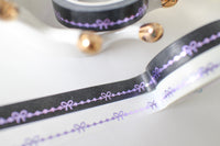10mm Purple Bow Line Set with Purple Foiling