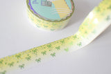 Lemonade Bling Bling Bow Washi with Holo Silver & Green Foiling