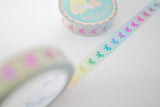 10mm Rainbow Vertical Bow Washi with Rainbow Foiling