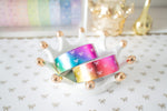 Metallic Rainbow Bow Washi with Rainbow Foiling