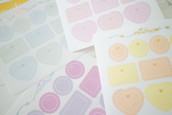 Foiled Functional Planner Box Stickers