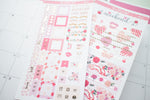 Love XOXO Foil Hobonichi Weeks Sticker - H016