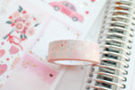 Valentine 2021 Bling Bling Bow Washi (Glitter Silver + Pink Foil)