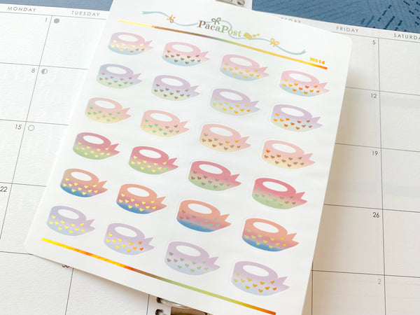 Foiled Washi Roll Stickers - W014