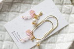 Handmade pink resin heart candy charm jewelry bead dangle wide paper clip