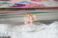 Handmade resin cherry blossom charm jewelry bead dangle wide paper clip