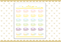 Foiled Washi Roll Stickers - W010
