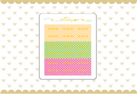 Foiled Washi Tape Stickers - Polka Dot