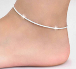 Silver Color Hemp Rope Chain Ankle Bracelet for Women
