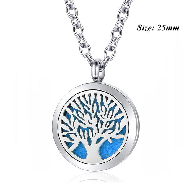 Tree of Life Magnetic Essential Oil Diffuser Pendant. With Chain as Gift!
