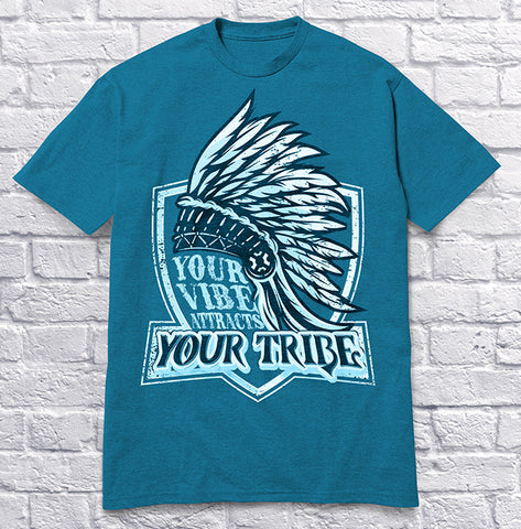 Your Vibe Attracts Your Tribe - Blue