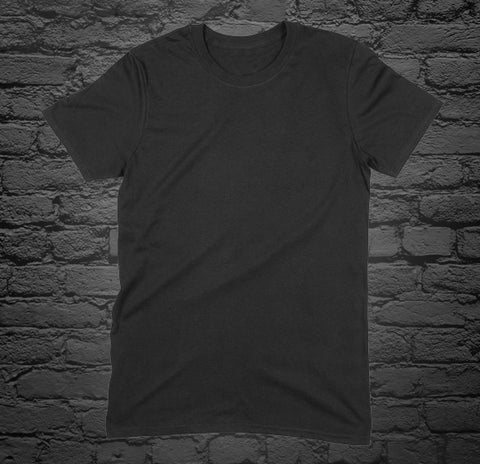 Custom Printed Black T-Shirt