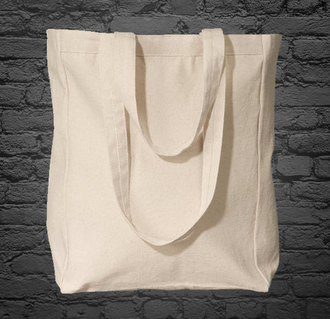 Custom Printed Cream Canvas Tote Bag