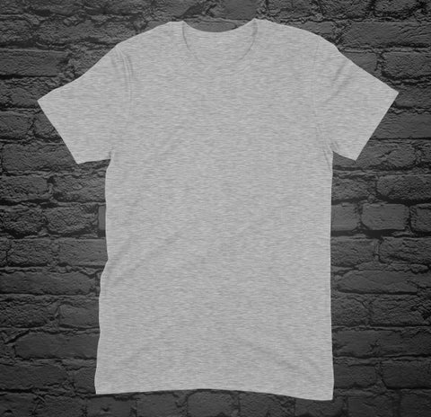 Custom Printed Heather Grey T-Shirt
