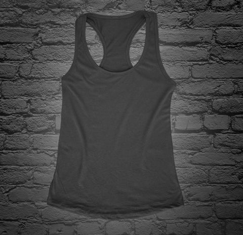 Custom Printed Black Racerback Tank Top