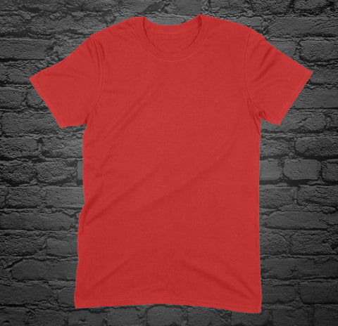 Custom Printed Red T-Shirt