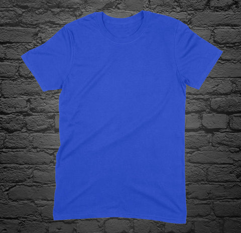 Custom Printed Royal Blue T-Shirt