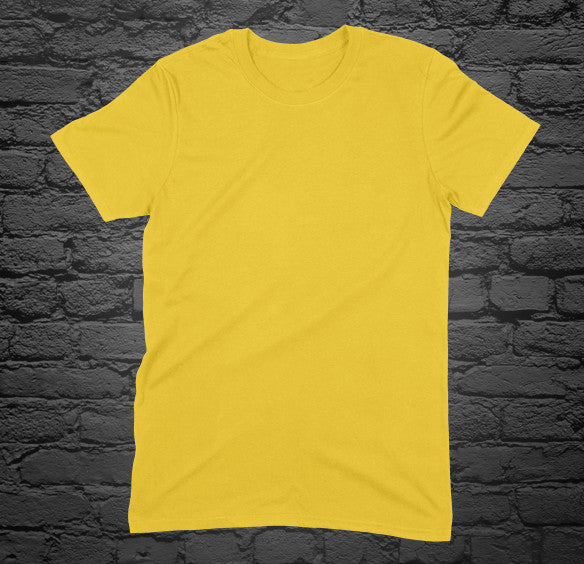 Custom Printed Yellow T-Shirt