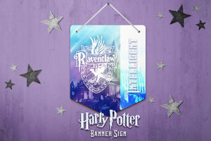 Harry Potter Wall Decor, Harry Potter Banner Sign, Ravenclaw Sign, Harry Potter Hardboard Banner Sign