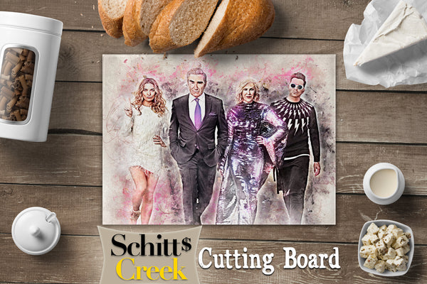 Schitts Creek Gifts, Schitts Creek Cutting Board, Schitts Creek Decorations, Kitchen Decor, Housewarming Gift, Glass Cutting Board