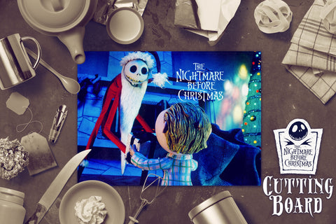 Nightmare Before Christmas Cutting Board, Jack and Sally Cutting Board, Kitchen Decor, Housewarming Gift, Glass Cutting Board