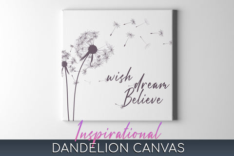 Dandelion Canvas Wall Art, Wall Art canvas Dandelion, Dandelion Wall Decor, Dandelion Canvas Print Framed & Ready to Hang