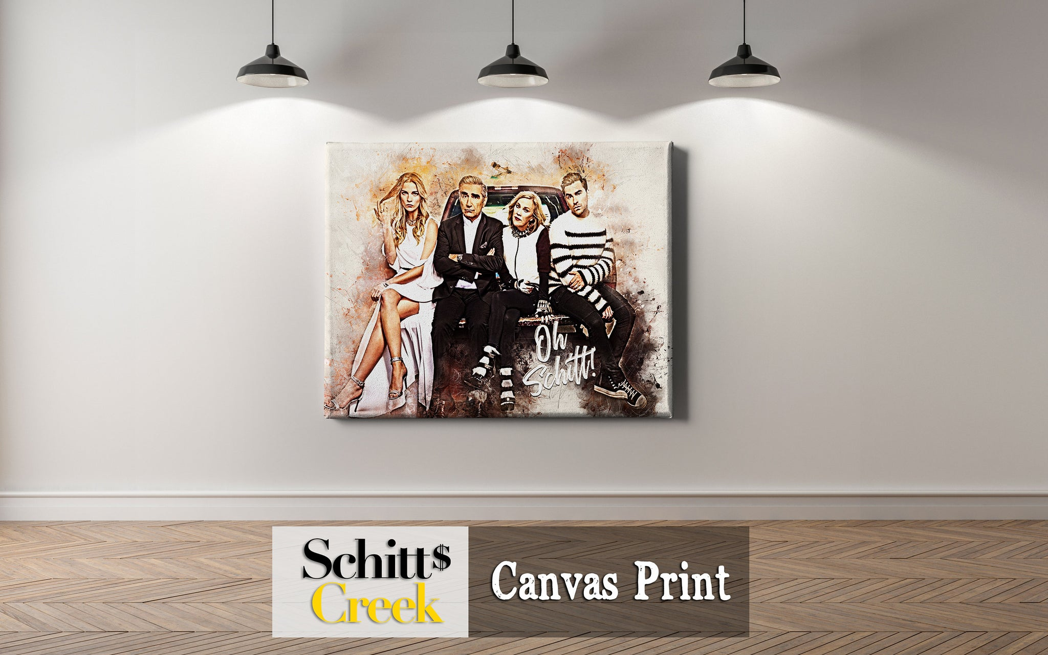 Schitts Creek Wall Decor, Schitts Creek Gifts, Schitts Creek Canvas Print Framed & Ready to Hang, Schitts Creek Wall Hanging