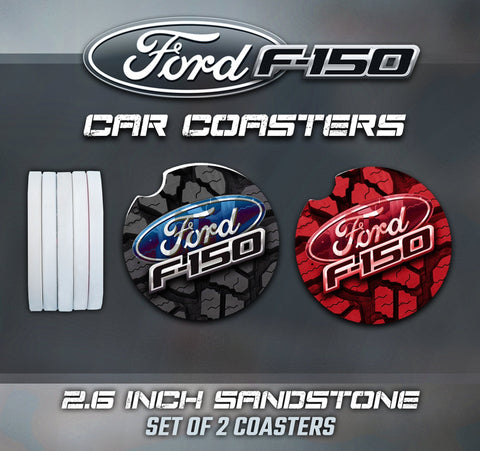 Ford F150 Car Coasters, F150 Car Coasters, Ford F150 Sandstone Car Coasters, Ford F150 Accessories