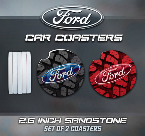 Ford Car Coasters, Ford Accessories