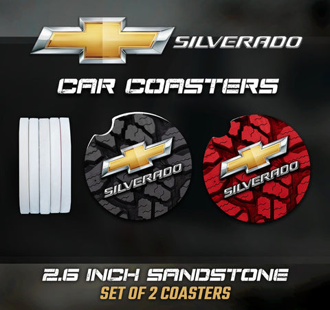 Chevy Silverado Car Coasters, Chevy Silverado Accessories, Chevy Silverado Car Coaster