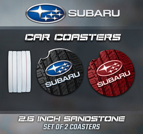 Subaru Car Coasters, Subaru Car Coasters, Subaru Sandstone Car Coasters, Subaru Accessories