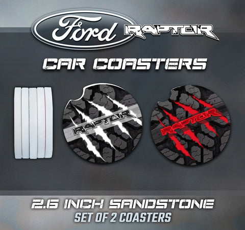 Ford Raptor Car Coasters, F150 Raptor Car Coasters, Ford Raptor Accessories, Raptor Accessories