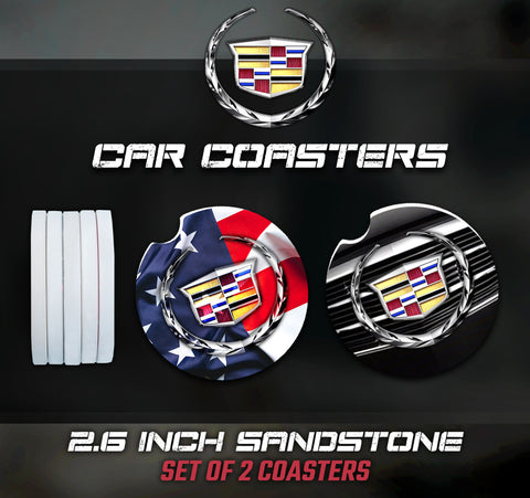 Cadillac Car Coasters, Cadillac Accessories, Cadillac Car Coaster