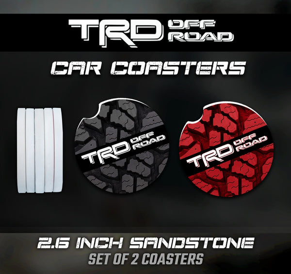 Toyota TRD Car Coasters, Toyota TRD Car Coasters, Toyota TRD Accessories, Toyota Car Coaster