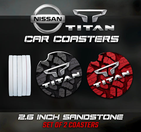 Nissan Titan Car Coasters, Nissan Titan Accessories, Nissan Car Coaster
