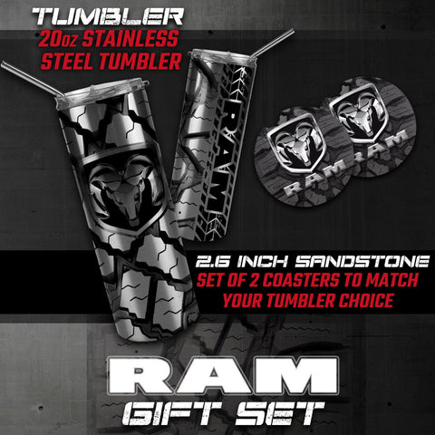 Ram Tumbler, Ram Car Coasters, Ram Gifts, Ram Accessories