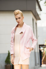 Load image into Gallery viewer, Rebel in Pink Faux suede Oversized jacket