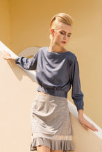 Load image into Gallery viewer, Tea break faux suede mesh skirt