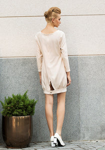 Vanilla macaroon oversized dress