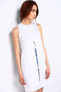 Marble Sky Split Centre Dress