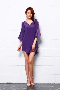 Royal Shine Silk Tunic Dress