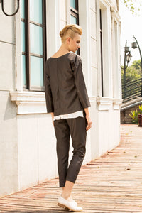 Chill like a gent mid-rise pinstripe pants