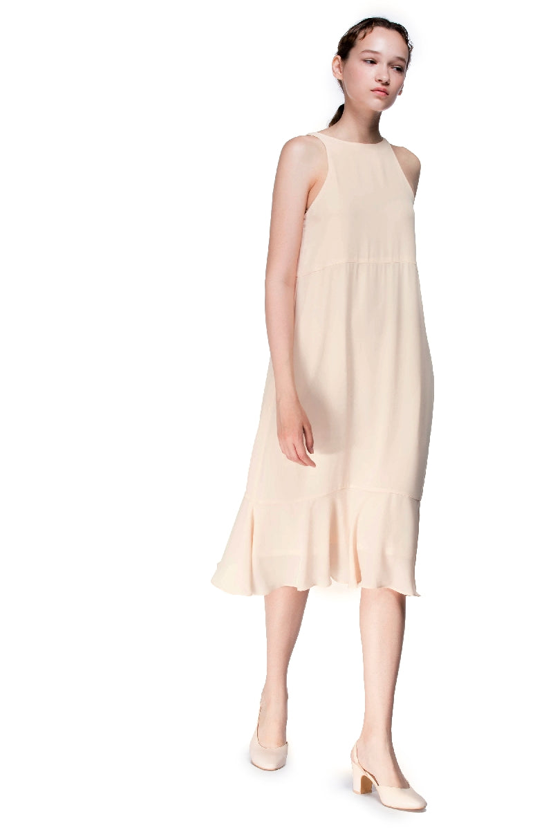 Gentle Glow Long Flounced Dress