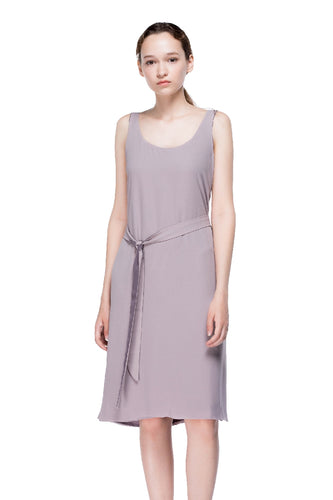 Clouds Slip Dress with Plunging Neckline